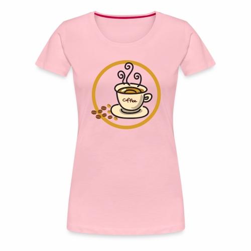 Kaffeeemblem - Frauen Premium T-Shirt