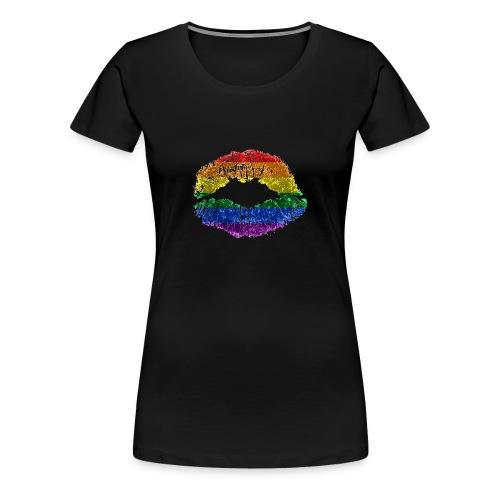 Regenbogenkuss - Frauen Premium T-Shirt