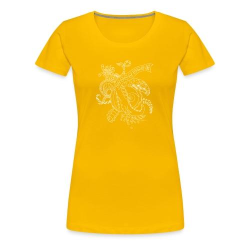 Fantasy hvid scribblesirii - Dame premium T-shirt
