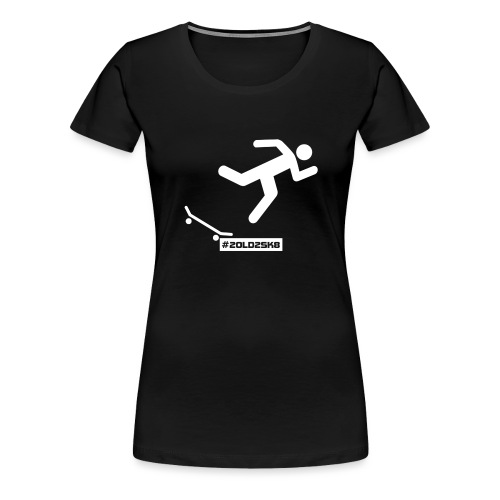 Falling Skateboarder - Women's Premium T-Shirt