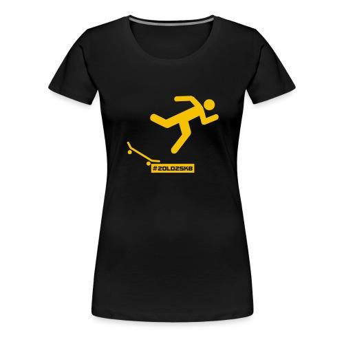 Falling Skateboarder yellow - Women's Premium T-Shirt