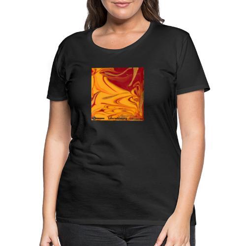 TIAN GREEN Mosaik DE102 - Erderwärmung zerstört .. - Frauen Premium T-Shirt