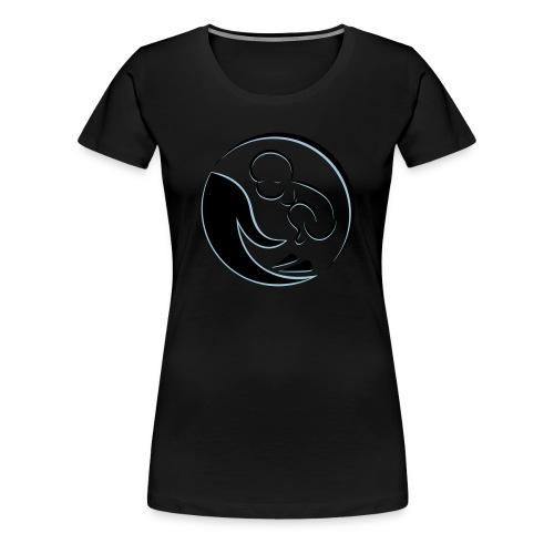 Baby in der Hand - Frauen Premium T-Shirt