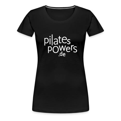 pilates-powers Damen Langarm-T-Shirt scharz - Frauen Premium T-Shirt