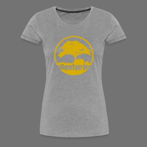 hiljainen puutarha (keltainen oldstyle) - Naisten premium t-paita