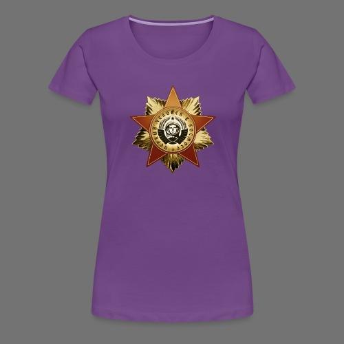 Kosmonautti mitali - Naisten premium t-paita