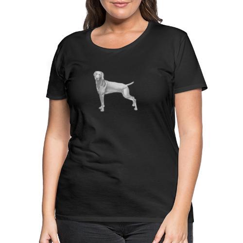 weimaraner - Dame premium T-shirt