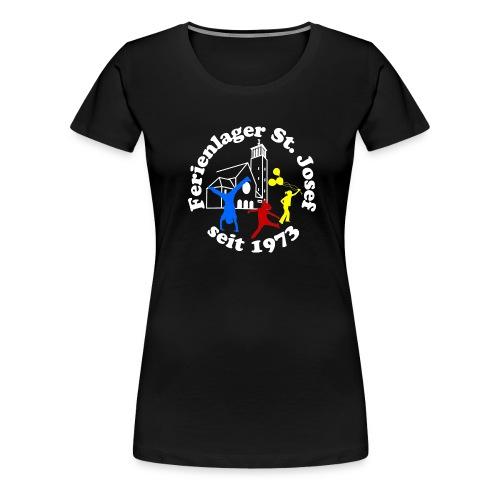 Logo Gif weiss farbig 120dpi 2000px - Frauen Premium T-Shirt