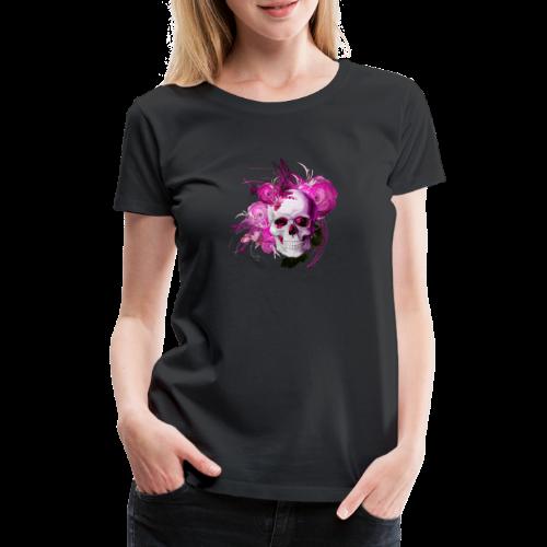 Pink fantasy skull - Premium-T-shirt dam