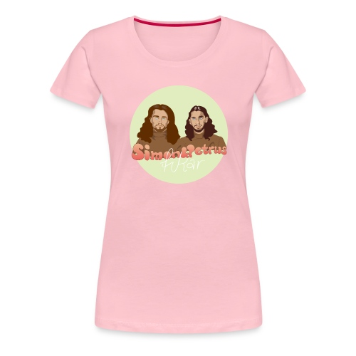 Simon och Petrus fikar - Premium-T-shirt dam