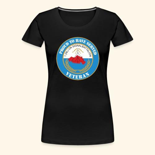 1 nl un signalbattalion veteraan - Vrouwen Premium T-shirt
