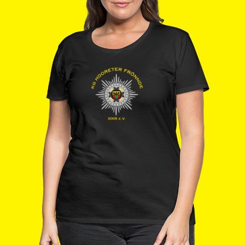 Gelbe Schrift - Frauen Premium T-Shirt