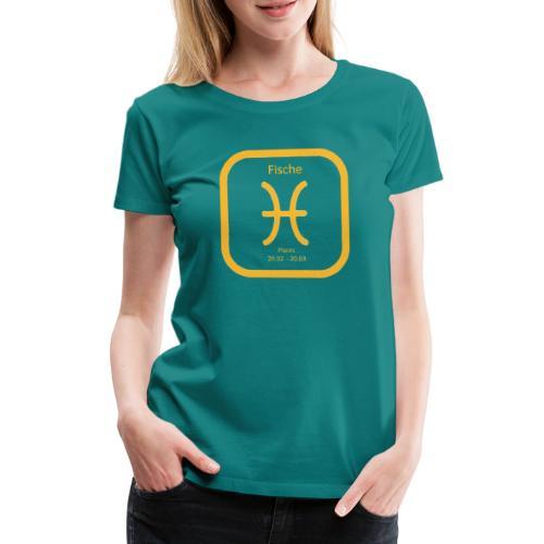 Horoskop Fische12 - Frauen Premium T-Shirt