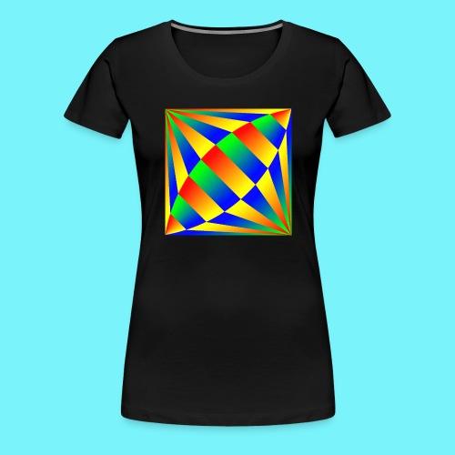 Giant cufflink design in blue, green, red, yellow. - Women's Premium T-Shirt