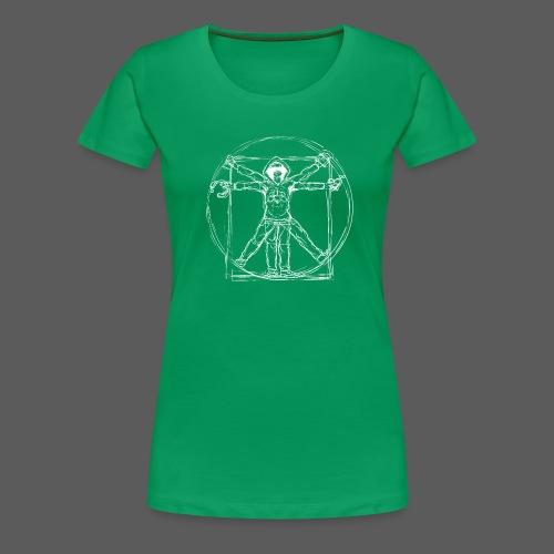 Vitruvian Gamer White Print - Frauen Premium T-Shirt
