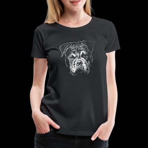 Continental Bulldog Kopf Weiss-BOBBY - Frauen Premium T-Shirt