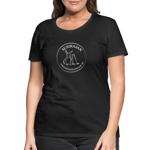 Valkoisella logolla - Naisten premium t-paita