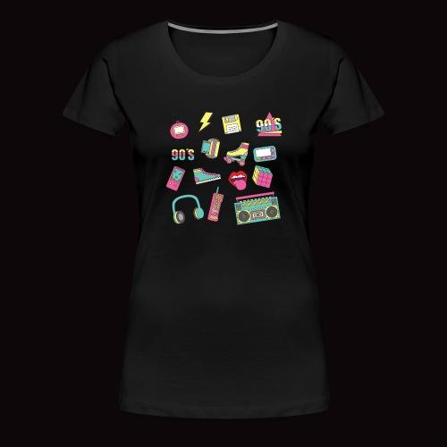 90 s - Camiseta premium mujer