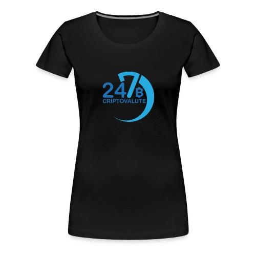 Criptovalute 247 Logo 2 - Maglietta Premium da donna