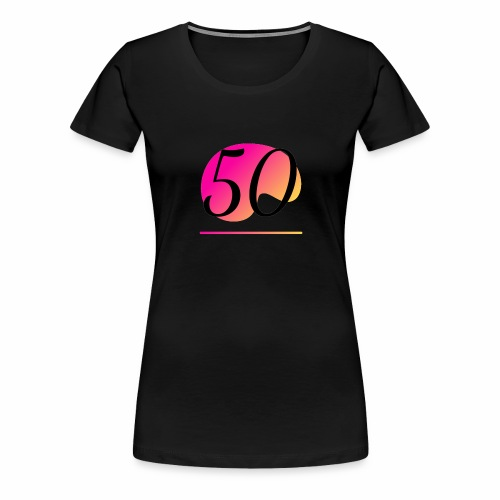T-Shirt zum 50. Geburtstag Herren Emblem - Frauen Premium T-Shirt