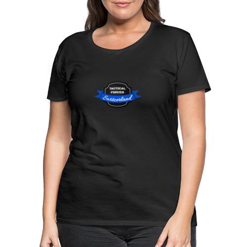 TFS Ruban noir et bleu - T-shirt Premium Femme