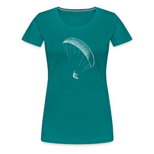 paraglider gerlitzen weiss - Frauen Premium T-Shirt