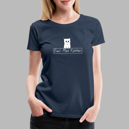 Emil with the cat danish logo - Women's Premium T-Shirt