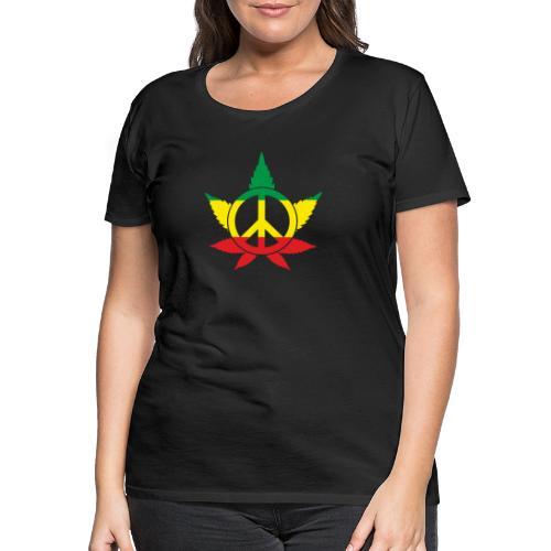 Peace färbig - Frauen Premium T-Shirt