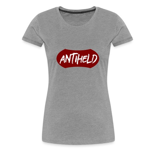 Antiheld Typografie Wappen - Frauen Premium T-Shirt