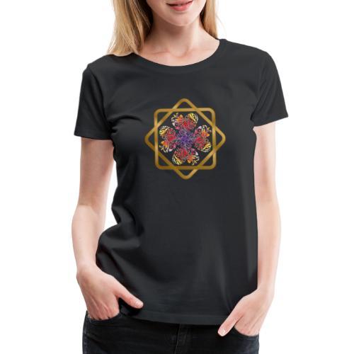 Kleeblatt aus Herzen Octagram - Glück Liebe Sicher - Frauen Premium T-Shirt