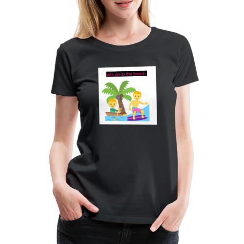 beach - Premium-T-shirt dam