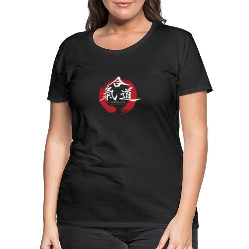 KAK logo white ink - Dame premium T-shirt