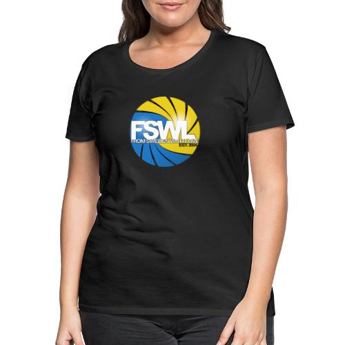 Transparent logo for From Sweden With Love (FSWL). - Premium-T-shirt dam