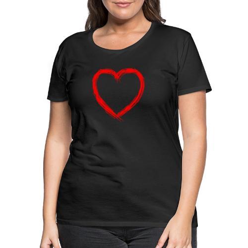 Love Heart Red - Vrouwen Premium T-shirt
