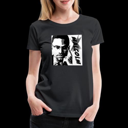 Malcom X Black and White - Frauen Premium T-Shirt