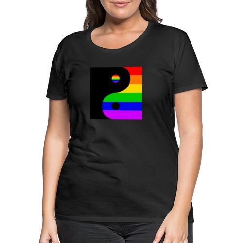 Yin and LGBT - Women's Premium T-Shirt