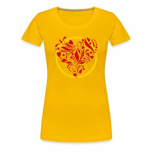 Herzemblem - Frauen Premium T-Shirt