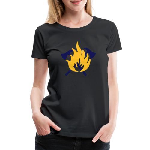 Feuerwehr Flamme und Beil - Frauen Premium T-Shirt