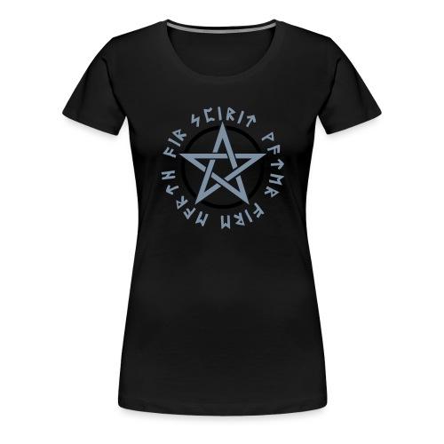 Pentagramm, Elemente, Runen, Magie, Symbol, Stern - Frauen Premium T-Shirt