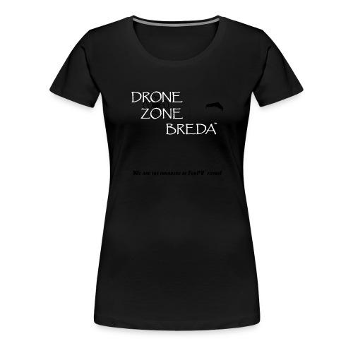 DroneZone Breda 2016LOGO Black TXT White Drones - Vrouwen Premium T-shirt