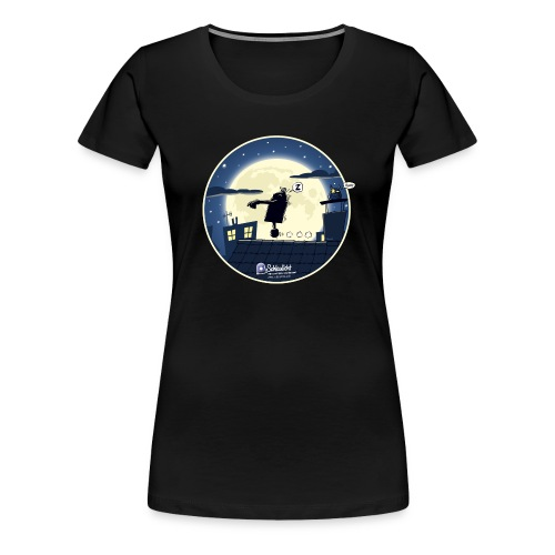 Emil und der Mond - Frauen Premium T-Shirt