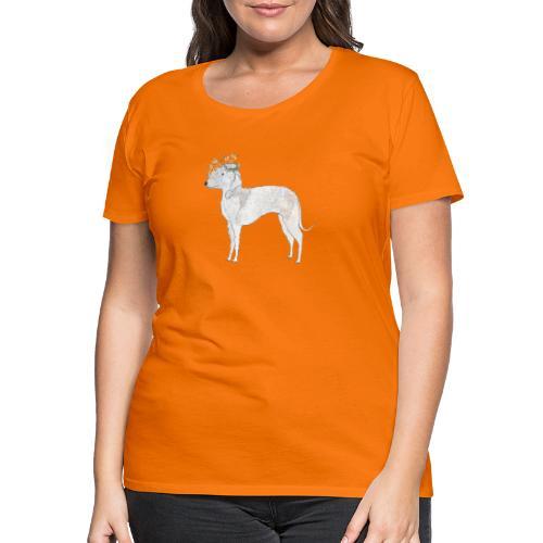 bedlington with flower - Dame premium T-shirt