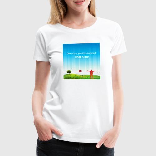 Rolling hills tshirt - Dame premium T-shirt