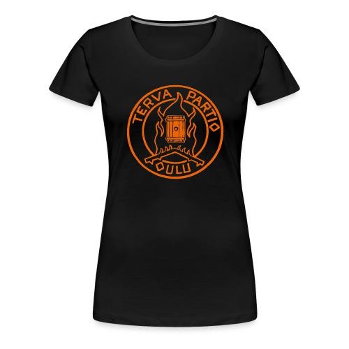 Tervapartio_oranssi - Naisten premium t-paita