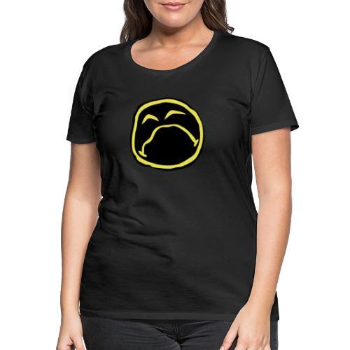 Droef Emoticon - Vrouwen Premium T-shirt