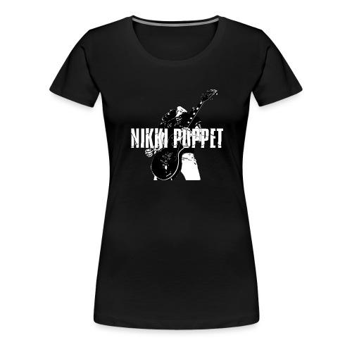 NP gitarrist Logo weiss - Frauen Premium T-Shirt