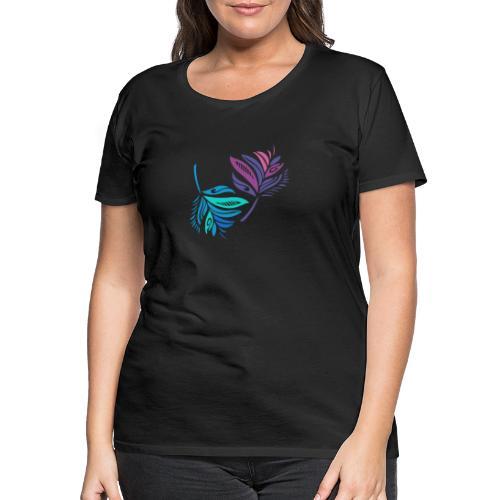 foglie geometriche - Maglietta Premium da donna