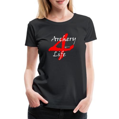 Archery4Life white - Frauen Premium T-Shirt