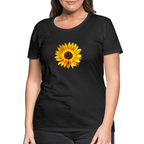 Sonnenblume gelb Sommer - Frauen Premium T-Shirt