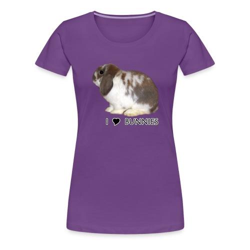 I Love Bunnies Luppis - Naisten premium t-paita